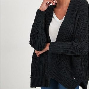 Black Hollister Knit Cardigan